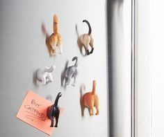 Kikkerland Cat Butt Magnets, Set of 6 - This magnet assortment includes 6 cat breeds identified by their sculpted characteristic butts. These magnets are perfect for the cat lover in all of us. Crazy Cat Lady, Crazy Cats, Kitchen Refrigerator, Refrigerator Magnets, Kitchen Humor, Funny Kitchen, Home Gadgets, Cat Gifts, Clay Crafts