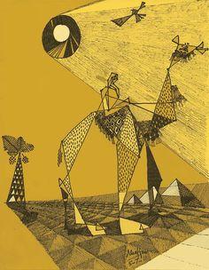 Arabian Camelman  Modern Arab Art by alsaffarstudio on Etsy, $22.00