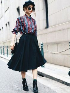 Vintage Autumn Look Madder Vintage Online Shop - Fashion - . - Fashion Trends for Girls and Teens Japanese Street Fashion, Tokyo Fashion, Asian Fashion, Look Fashion, Trendy Fashion, Runway Fashion, Girl Fashion, Fashion Outfits, Fashion Tips