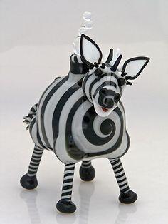 Zebra Mini Glass Perfume Bottle