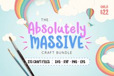 The Absolutely Massive Craft Bundle for only $22 at the Hungry JPEG. #ad #craftbundle #thehungryjpeg