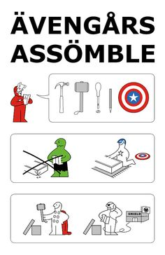 The Avengers Ikea 11 x 17 art print by VICTORYDELUXE on Etsy, $6.99