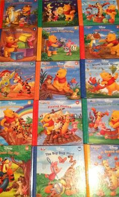 Lot of 15 Disney Winnie The Pooh It's Fun To Learn Hardcovers-Complete Christmas Books, Disney Christmas, Disney Princess Books, Disney Winnie The Pooh, Coloring Books, Magazines, My Books, Learning, Fun