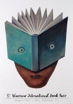 Warsaw International Book Fair, Polish Poster by Stasys Eidrigevičius