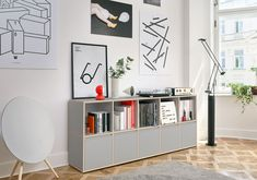 Meet your record collection's custom new home. Create your perfect-fit vinyl record storage in just a few clicks and enjoy free delivery and returns. Vinyl Record Storage, Wall Storage, Wall Shelving Units, Shelves, Regal Design, Modern Bookcase, Drawer Design, Home Room Design, New Furniture