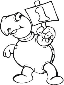 number 5 coloring page little ones 2014 5 pinterest coloring - 1 Coloring Page