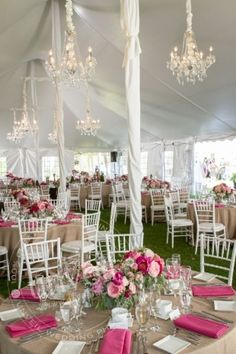 Decorating Tents For Wedding Receptions