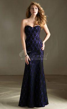 Sweetheart Long Lace Bridesdmaid Dresses with Zipper,Trumpet/Mermaid Sleeveless Bridesdmaid Dress(BDBB1085)