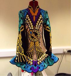 Celtic Star Irish Dance Solo Dress Costume almost looks like stained glass. Irish Step Dancing, Irish Dance, Next Dresses, Dance Dresses, Celtic Dress, Embellished Dress, Costume Dress, Dance Costumes, Dance Wear