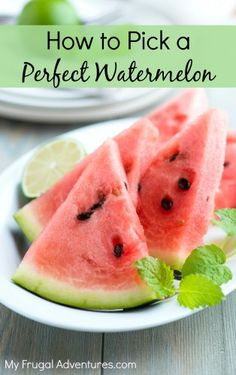 Tips to Pick a Perfect Watermelon- check this before you head to the grocery store!
