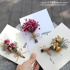 Creative Gift Wrapping, Creative Gifts, Flower Cards, Paper Flowers, Dried Flowers, Diy Crafts For Gifts, Paper Crafts, Wedding Cards, Wedding Gifts