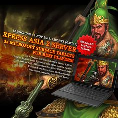 Rage of 3 Kingdoms : Xpress Asia 2 server is now launched! Don't miss these awesome prizes for the best and courageous Generals. So what are you waiting for? Go Go GO!!