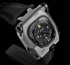 Urwerk EMC Time Hunter. Limited Edition of 15 pieces. Titanium / Steel Case