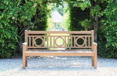 Garden bench traditional teak commercial LONDON TECK Tectona