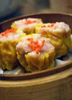 Pork and Shrimp Shumai - I would have to leave out shrimp. Switch ground turkey for pork. Yum.