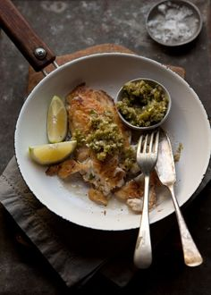 Pan-Fried Line Fish with a Ginger-Scallion Sauce | Drizzle & Dip