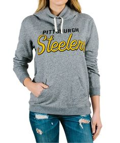 67a2dabeb Women s Pittsburgh Steelers Sunday Cowl Hooded Sweatshirt  This Women s  Pittsburgh Steelers Sunday Cowl…