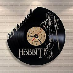 Hobbit Bilbo Gift Movie Hero Art Birthday Party Wall Nursery Vinyl Record Clock