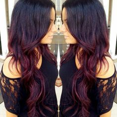 burgundy ombre hair - Google Search