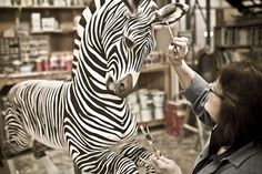Amazing wood zebra by The Carousel Works of Mansfield, Ohio. Photo by Tadd Myers in the American Craftsman Project.