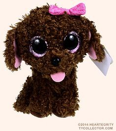 Maddie Beanie Boo - 6 in Ty Beanie Boos, Beanie Boo Dogs, Rare Beanie Babies, Ty Teddies, Big Eyed Stuffed Animals, Ty Animals, Beanie Boo Birthdays, 3d Sticker, Ty Babies
