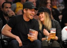 Drew Barrymore and Will Kopelman hit the Lakers game