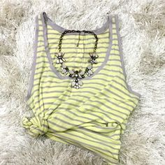 Stem Flowy Lightweight Striped Tank Sz Medium Stem Flowy Lightweight Striped Tank Sz Medium. Worn only a couple of times. Originally purchased from Nordstrom. Back of tank is lined down the middle with buttons. Great tank to wear with a maxi skirt! Feel free to ask questions!  Stem Tops