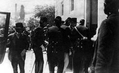 The Arrest of Gavrilo Prinzip, 1914 (b/w photo)
