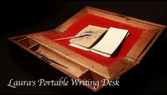 Laura Ingalls Wilder's portable writing desk.  I saw this desk in her Missouri home The travel desk was  mentioned in one of her books when she and Almonzo lost the $100 bill and later found it in the desk.