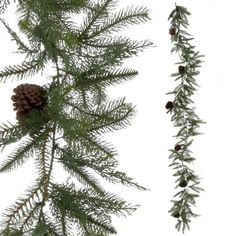 Pine Garland with Pinecones 9'