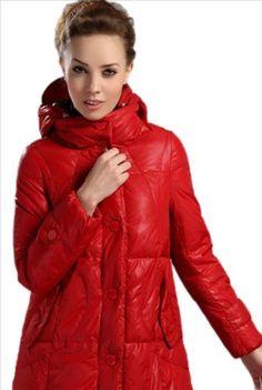 Dress Hope 2012 New Female Models Long Slim White Duck Down Thick Down Jacket Women 007