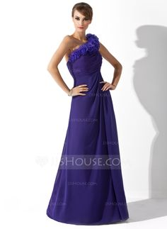 Mother of the Bride Dresses - $132.99 - A-Line/Princess One-Shoulder Floor-Length Chiffon Organza Mother of the Bride Dress With Ruffle (008006540) http://jjshouse.com/A-Line-Princess-One-Shoulder-Floor-Length-Chiffon-Organza-Mother-Of-The-Bride-Dress-With-Ruffle-008006540-g6540?ver=xdegc7h0
