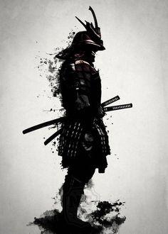 ▷ 1001 coole und effektvolle Samurai Tattoo Ideen fighter tattoo, black and white drawing, man, katana, helmet Samurai Tattoo, Ronin Tattoo, Demon Tattoo, Shogun Tattoo, Shadow Tattoo, Cat Tattoo, Ronin Samurai, Samurai Anime, Female Samurai