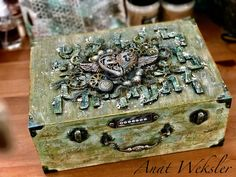 Hello! Today I want to share a wooden box I made to enter with into the Mixed media place April challenge . I used lots of ...
