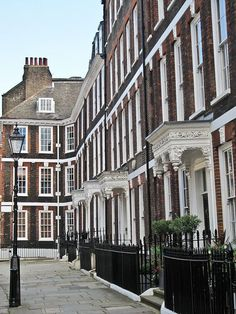 "enchantedengland: "" One of the best preserved Georgian streets in London, Queen Anne's Gate, Westminster. There is much more to Westminster than that cluster of fancy buildings by the bridge, not that I couldn't gawk at the Houses of Parliament all. England And Scotland, England Uk, Georgian Architecture, English Architecture, Old London, London Pubs, London Street, West London, London House"