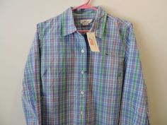 Vineyard Vines Purple Gingham Shell Island Plaid Whale Shirt SZ 10 NWT Fast Ship #vineyardvines #ButtonDownShirt #Casual