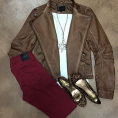 Lepord And Leather Fall Outfit