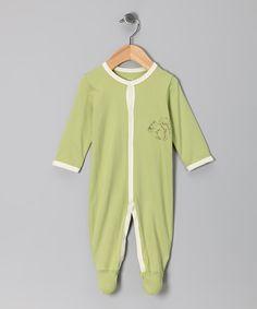Green Squirrel Footie - Infant