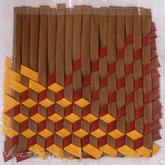 Art Of Weaving And Some Interesting Aspects Of It 2019 aller jusqu'au bout de l'obsession et faire du tissage géométrique ! mad weaving The post Art Of Weaving And Some Interesting Aspects Of It 2019 appeared first on Weaving ideas. Fabric Art, Fabric Crafts, Paper Crafts, Diy Crafts, Woven Fabric, Textile Manipulation, Fabric Manipulation Tutorial, Fabric Manipulation Techniques, Paper Weaving