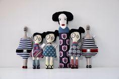 A Whole family in complete / needlepoint, handmade by Kasia Urban Rybska http://kasiaurbanrybska.com/