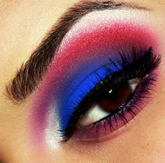 "4th of July (add glitter for ""fireworks"")  http://www.makeupbee.com/look.php?look_id=73131"