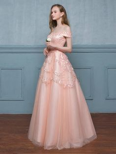 Dresswe.com SUPPLIES Pretty A Line Off The Shoulder Sequin Floor Length Long Prom Dress Prom Dresses 2016 (4)