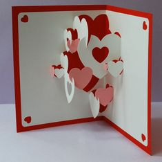 Image detail for -DIY Valentine Heart Collage Popup Card & 10 by PeadenScottDesigns