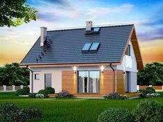 Zdjęcie projektu Armanda XS BIS WOK1068 Modern Bungalow, Malaga, Tiny House, House Plans, New Homes, Home And Garden, Real Estate, Outdoor Structures, House Design