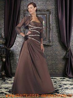 Perlen Taft 2012 Apartes wunderschönes Abendkleid mit Jacke