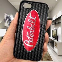 cheap peterbilt 379 carbon fibre patern kenworth truck logo iphone 5c case cover