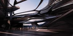 Zaha Hadid's Student Envisions an Antarctic Port For Tourism and Research,Courtesy of Sergiu-Radu Pop