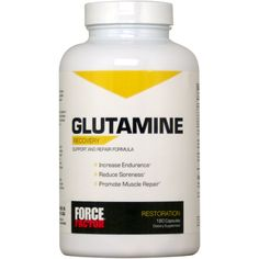 Force Factor Glutamine 180 ct | Regular Price: $29.99, Sale Price: $21.99 | OvernightSupplements.com | #onSale #supplements #specials #ForceFactor #RecoveryFormula  | Force Factor Glutamine Increase Endurance Reduce Soreness Promote Muscle Repair Looking for a better way to recover from your most intense workouts The fitness experts at Force Factor have harnessed the power of the amino acid l glutamine to create Glutamine a premium support supplement designed to help improve