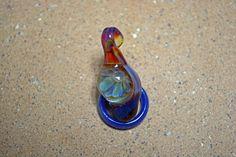 Glass borosilicate implosion lampwork pendant (Boro #11)