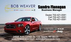 2014 Dodge Charger Business Card ID# 21202